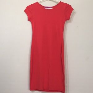 Boohoo bodycon red dress